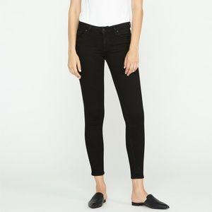 Hudson black krista low rise super skinny jeans 25